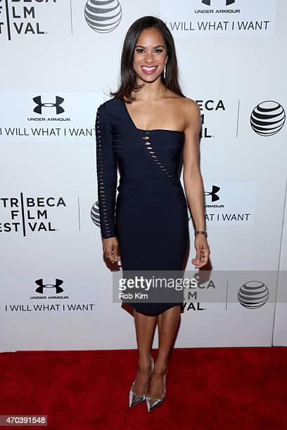 Ballet dancer Misty Copeland attends the premiere of 'A Ballerina's Tale' during the 2015 Tribeca Film Festival at BMCC Tribeca PAC on April 19 2015...