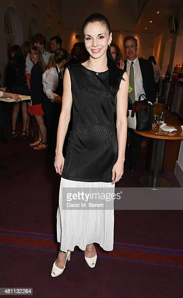 Ballet dancer Natalia Osipova attends a postshow drinks reception following the Ardani 25 Dance Gala at The London Coliseum on July 17 2015 in London...
