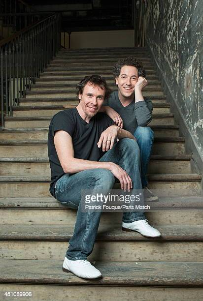 Ballet dancer Nicolas le Riche and Guillaume Gallienne are photographed for Paris Match on may 27 2014 in Paris France