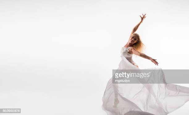 ballet dancer - tulle netting stock pictures, royalty-free photos & images