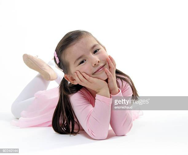 ballet dancer - little girls in tights stock photos and pictures