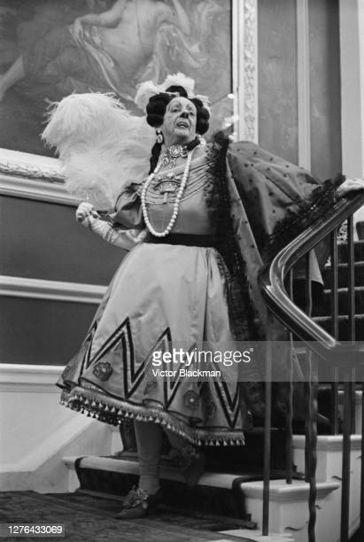 Ballet dancer Robert Helpmann as an Ugly Sister in Frederick Ashton's comic ballet 'Cinderella' at the Royal Opera House in London December 1965