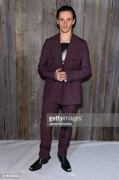Ballet dancer Sergei Polunin attends the Calvin Klein Collection during New York Fashion Week at New York Stock Exchange on February 13 2018 in New...