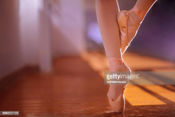 Ballet dancer standing on her toes