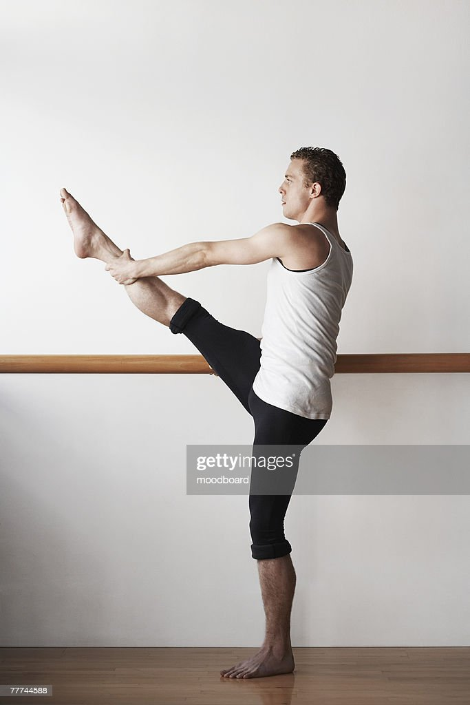 Ballet Dancer Stretching : Stock Photo