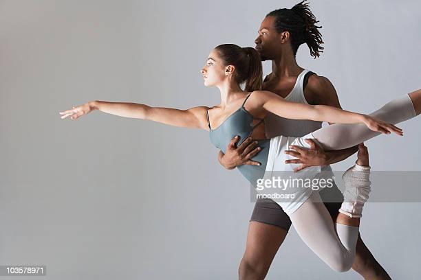 Ballet dancer supporting ballerina