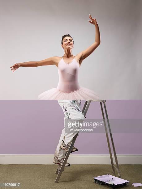 Ballet dancer top, decorator bottom