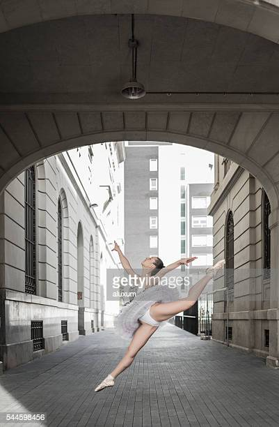 Ballet dancer urban performance