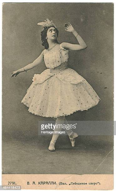 Ballet dancer Vera Karalli in the Ballet Swan Lake
