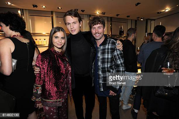 Ballet dancer Violetta Komyshan actor Ansel Elgort and fashion designer Timo Weiland attend DISARONNO Wears ETRO Launch Event at ETRO in Soho October...