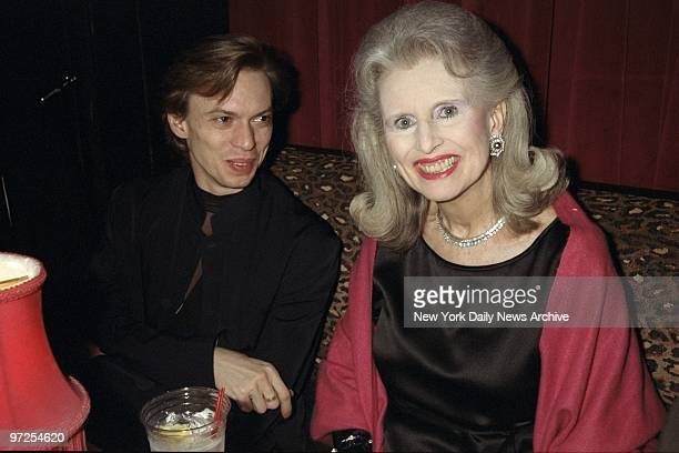 Ballet dancer Vladimir Malakhov and Judy Peabody are on hand at the Kit Kat Klub for a Red Cross benefit to aid victims of the war in Yugoslavia.