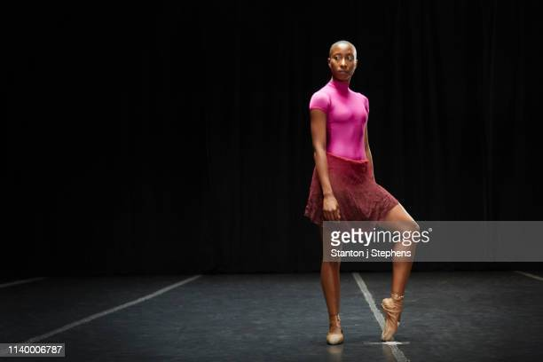ballet dancer with foot on tiptoe - ballerina feet stock photos and pictures
