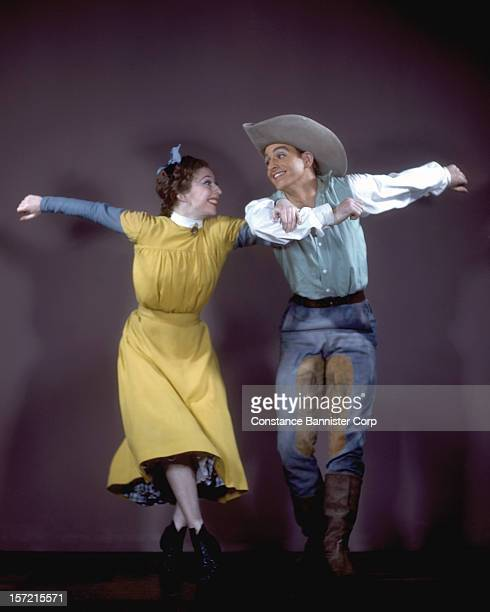 Ballet dancers Agnes de Mille and Frederic Franklin in 'Rodeo' a ballet scored by Aaron Copland and choreographed by Agnes de Mille New York City 1942