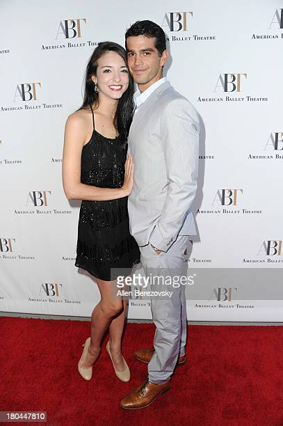 Ballet dancers April Giangeruso and Nathaniel Riley attend American Ballet Theatre's annual 'Stars Under The Stars An Evening In Los Angeles' event...