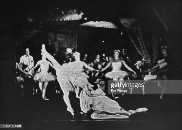 Ballet dancers as seen during the first crosschannel television transmission from France broadcasting to the United Kingdom 14th July 1952 The French...