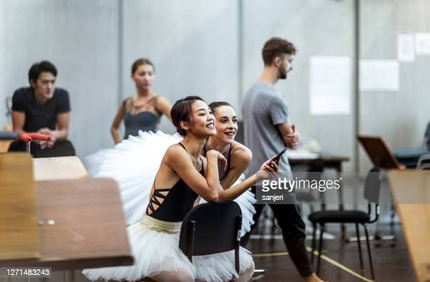 ballet dancers at a rehearsal - rehearsal stock pictures, royalty-free photos & images