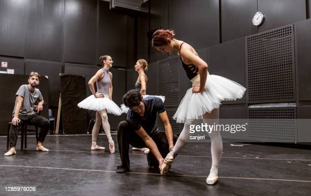 ballet dancers at a rehearsal - performing arts event stock pictures, royalty-free photos & images