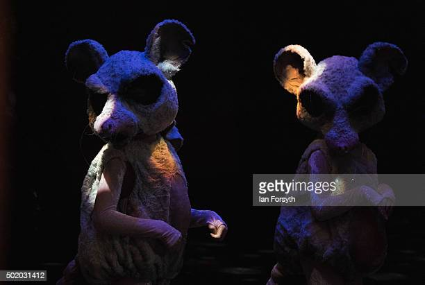 Ballet dancers dressed as part of the mouse army perform during The Nutcracker by Northern Ballet at the Grand Theatre on December 18 2015 in Leeds...