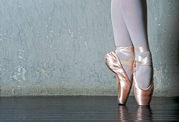 Ballet Dancer's Feet En Pointe