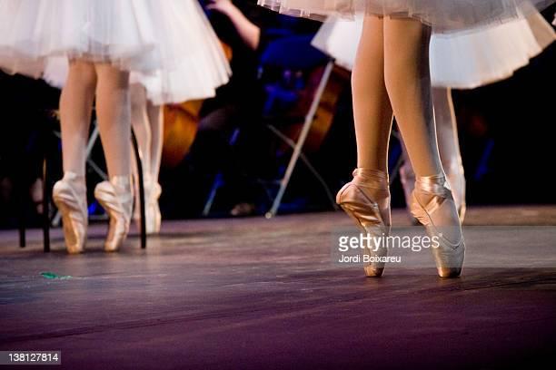 Ballet dancers feet