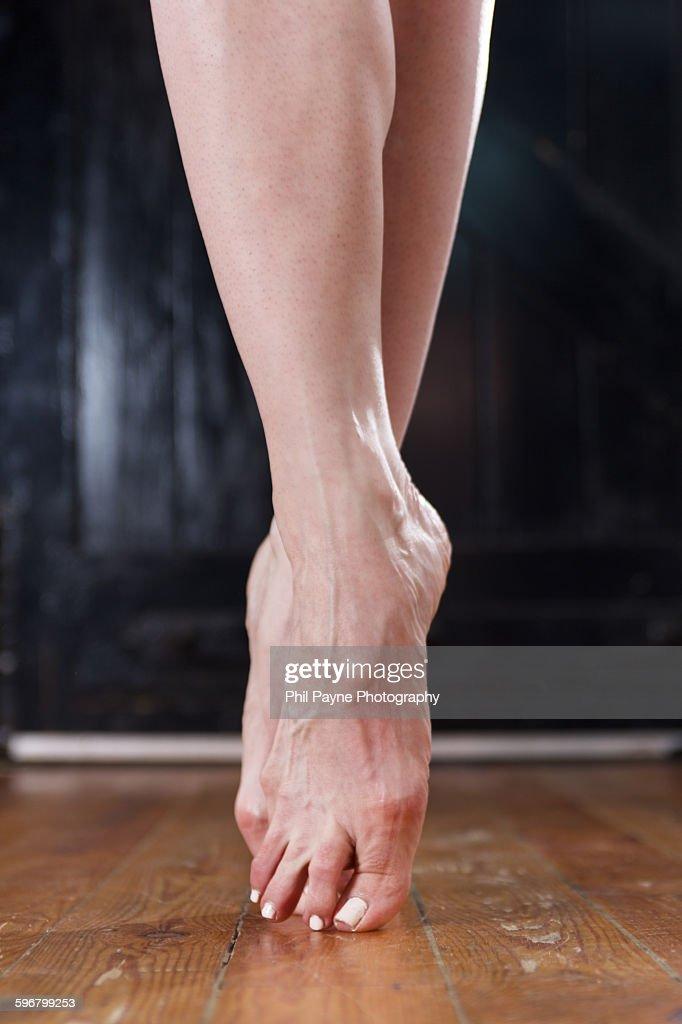 Ballet Dancer's Feet : Stock Photo