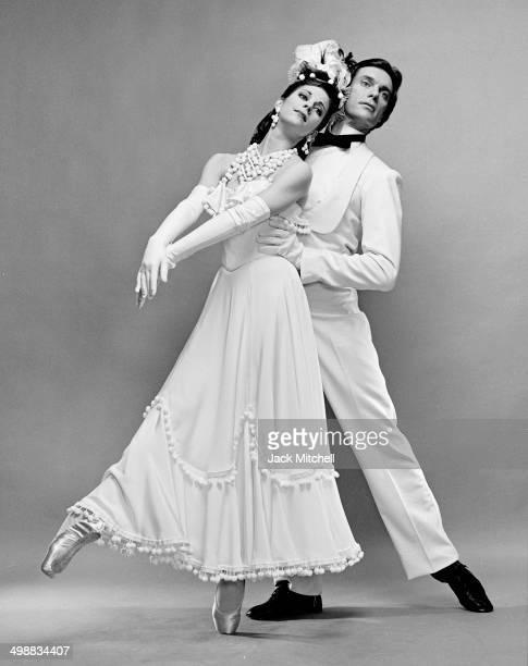 Ballet dancers Leslie Browne and John Meehan both of the American Ballet Theater perform in Antony Tudor's 'Dim Lustre' 1985