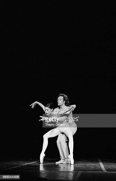 Ballet dancers Luciana Savignano and Jorge Donn perform for the Ballet of the Twentieth Century company at the Chatelet Theatre in Paris