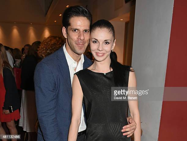 Ballet dancers Marcelo Gomes and Natalia Osipova attend a postshow drinks reception following the Ardani 25 Dance Gala at The London Coliseum on July...