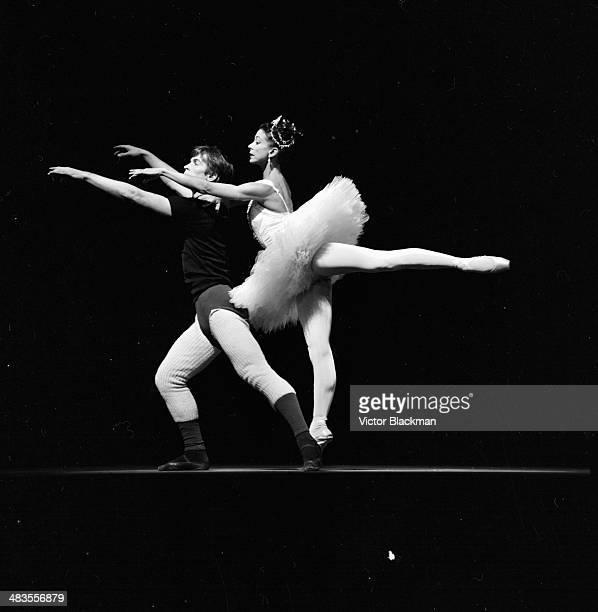 Ballet dancers Margot Fonteyn and Rudolf Nureyev rehearsing 'La Bayadere' on stage November 24th 1963