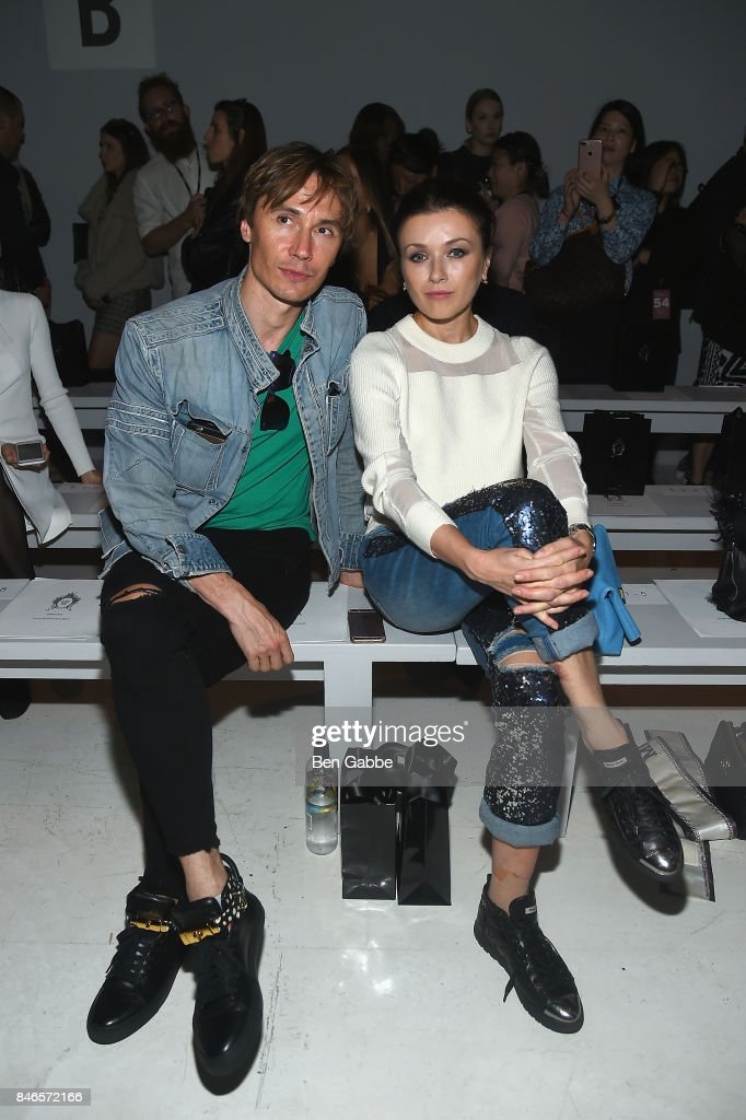 Ballet dancers Maxim Beloserkovsky (L) and Irina Dvorovenko attend the Zang Toi fashion show during New York Fashion Week: The Shows at Gallery 3, Skylight Clarkson Sq on September 13, 2017 in New York City.