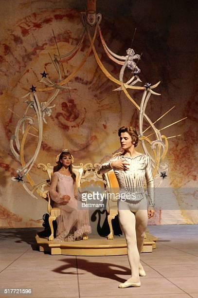 Ballet dancers Mikhail Baryshnikov and Gelsey Kirkland performing in The Nutcracker Composer Pyotr Ilyich Tchaikovsky
