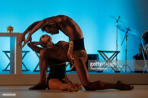 Ballet dancers Misty Copeland and Clifford Williams perform during Shinnyo Lantern Floating for Peace Ceremony at Lincoln Center for the Performing...