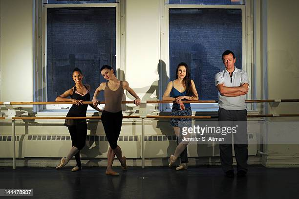 Ballet dancers Misty Copeland Isabella Boylston Natalia Osipova and choreographer Alexei Ratmansky are photographed for the New York Times on March...