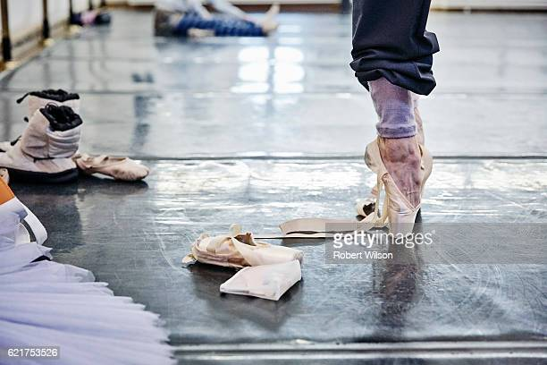 Ballet dancers of The Bolshoi Ballet company during rehearsal are photographed for the Times on February 4, 2016 in London, England.