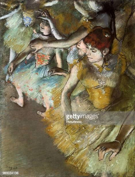 Ballet Dancers Onstage Degas Edgar