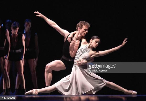 Ballet dancers perform the shows of choreographer Dwight Rhoden and Jam Mann during the Dance Open international ballet festival in Saint Petersburg...