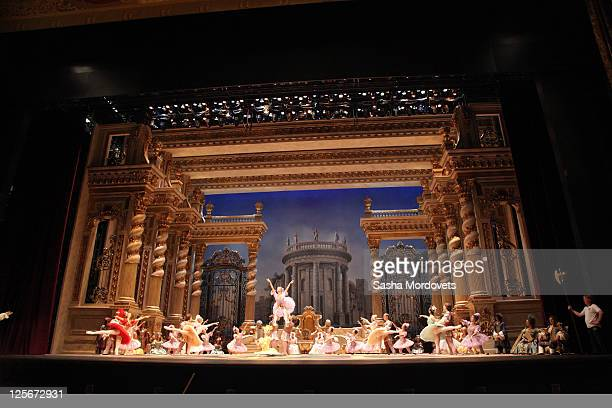 Ballet dancers rehearse for the ballet Sleeping Beauty at the Bolshoi Theater September 20 2011 in Moscow Russia The Bolshoi closed in 2005 for a...