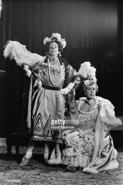 Ballet dancers Robert Helpmann and Frederick Ashton as the Ugly Sisters in Ashton's comic ballet 'Cinderella' at the Royal Opera House in London...