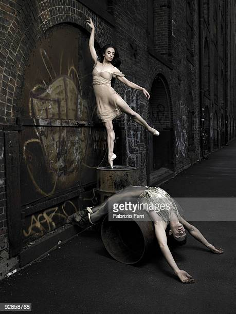 Ballet Dancers Roberto Bolle poses for a portrait session with Alessandra Ferri in April 2007 New York NY