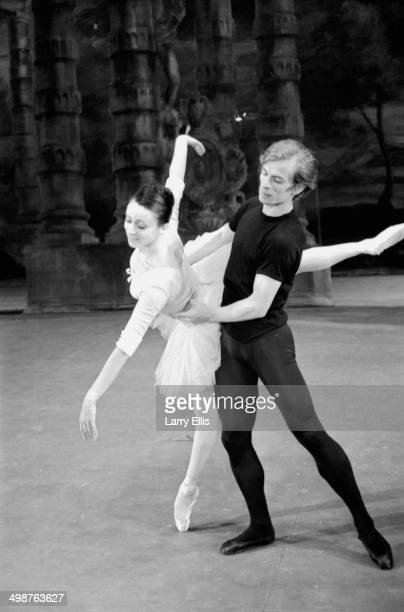 Ballet dancers Rudolf Nureyev and Annette Page rehearsing on stage June 11th 1964