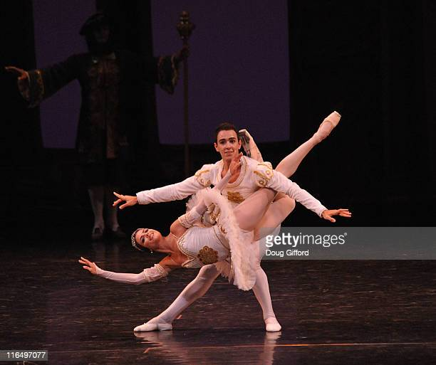 Ballet dancers Yanela Pinera and Alfredo Ibanez with the National Ballet of Cuba perform Sleeping Beauty at the Segerstrom Center for the Arts on...