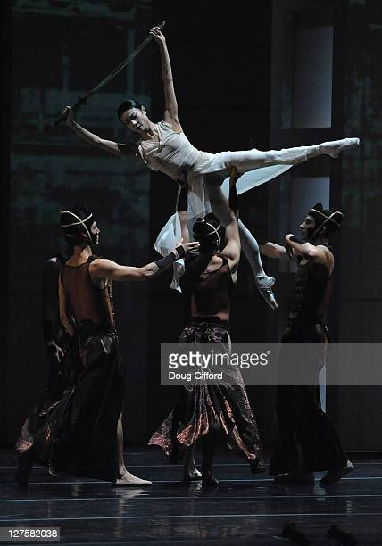 Ballet dancers Yuan Yuan Tan and company perform in the Orange County Premiere of RakU with The San Francisco Ballet Performs of Trio RakU And...