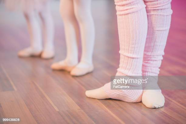 Ballet feet closeup