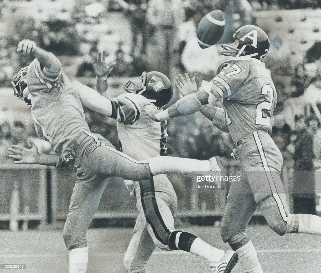 Toronto Argonaut Defensive Backs Larry Uteck And Barry
