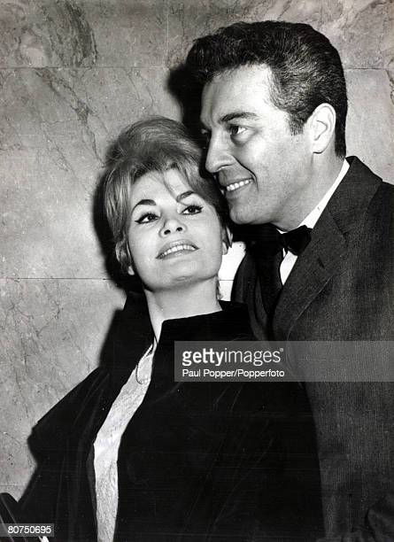 Ballet, Personalities, pic:11th March 1960, French ballerina Noelle Adam with her husband Sydney Chaplin the son of the famous comedian Charlie...