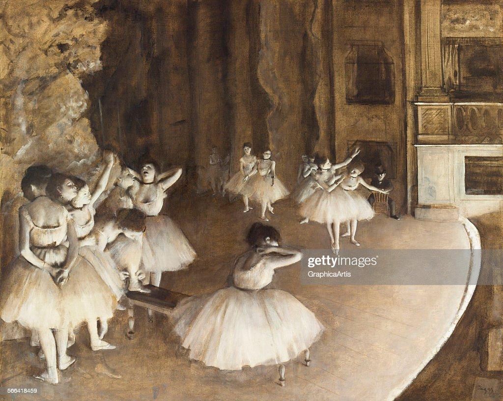 Ballet Rehearsal By Degas : News Photo