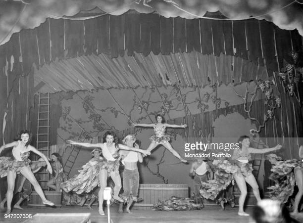 Ballet scene from the musical Giove in doppiopetto staged at Teatro lirico of Milan Milan October 1954