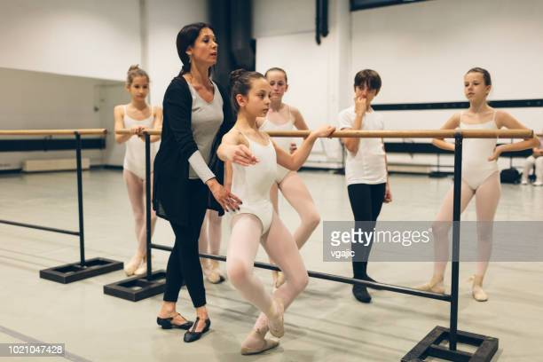 ballet school for kids - school gymnastics stock photos and pictures