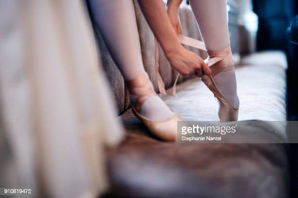 ballet shoes - ballet stock pictures, royalty-free photos & images
