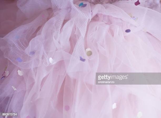 ballet skirt with confetti - tulle netting stock pictures, royalty-free photos & images